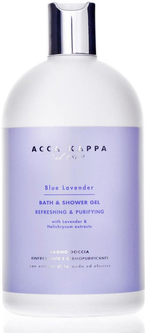 Acca Kappa Гель для душа и ванны Голубая Лаванда 500 мл853469Освежающий и очищающий гель для душа, обогащенный экстрактами лаванды и бессмртника. Натуральные поверхностно-активные вещества мягко очищают кожу и поддерживают тонкий, естественный рН баланс.