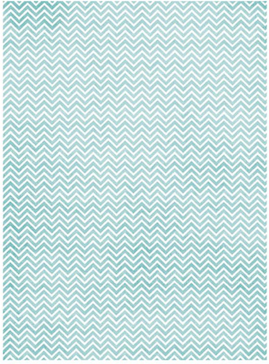 Рисовая бумага для декупажа Craft Premier Голубой зиг-заг, A3CP01532