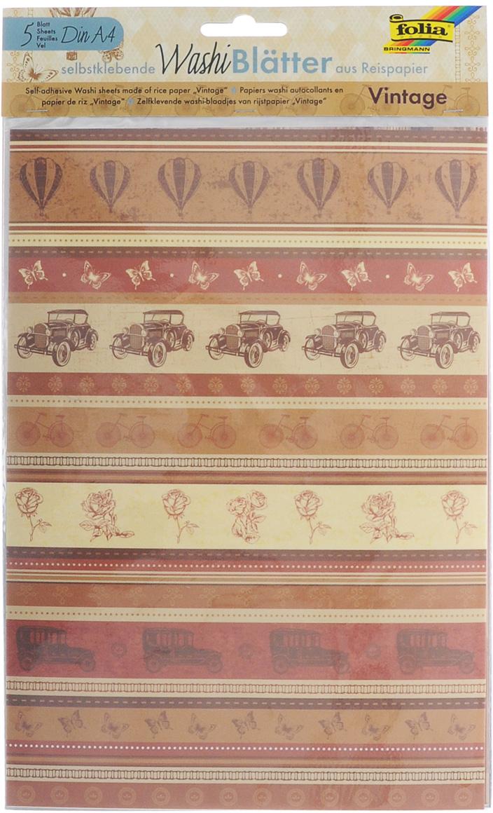 Рисовая бумага Folia Винтаж, самоклеящаяся, 29,5 x 21 см, 5 листов7707995Рисовая бумага Folia Винтаж - бумага с матовой поверхностью, которая используется для изготовления открыток, для скрапбукинга и других декоративных или дизайнерских работ. Бумага декорирована различными винтажными изображениями. Она имеет самоклеящуюся пленку, позволяющую удаление и повторное приклеивание, что обеспечивает большие творческие возможности. Изделие имеет отличное сцепление с бумагой, обоями, тканью и гладкими поверхностями, такими как металл, стекло и т.д. без специальной подготовки.