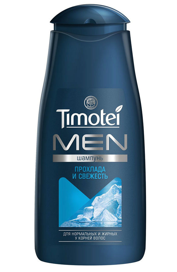 Timotei шампунь для мужчин Прохлада и свежесть, 250 мл манекен с натуральными волосами