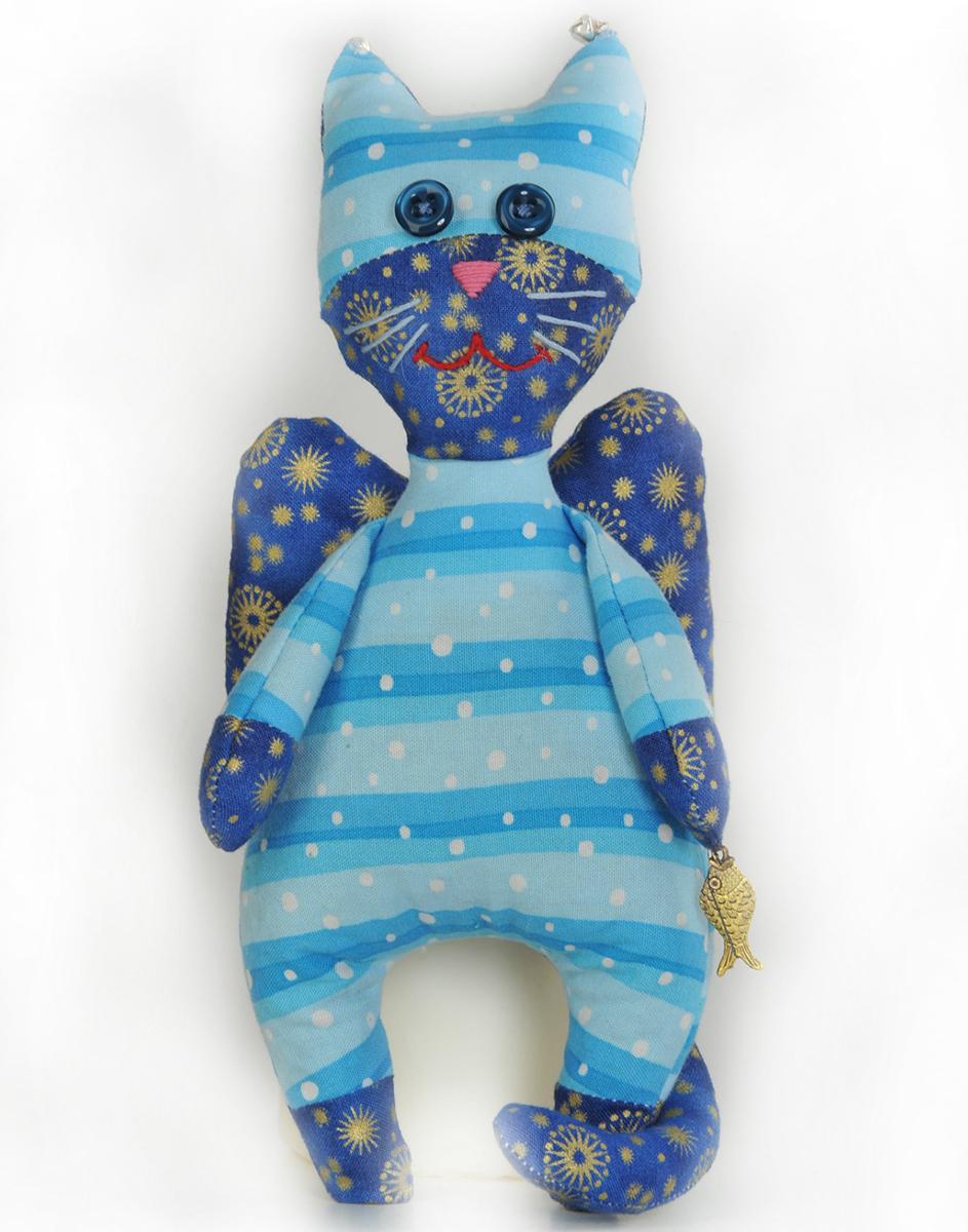 Набор для создания игрушки Перловка Кот-ангел, высота 22,5 см бубенчики декоративные купить в москве