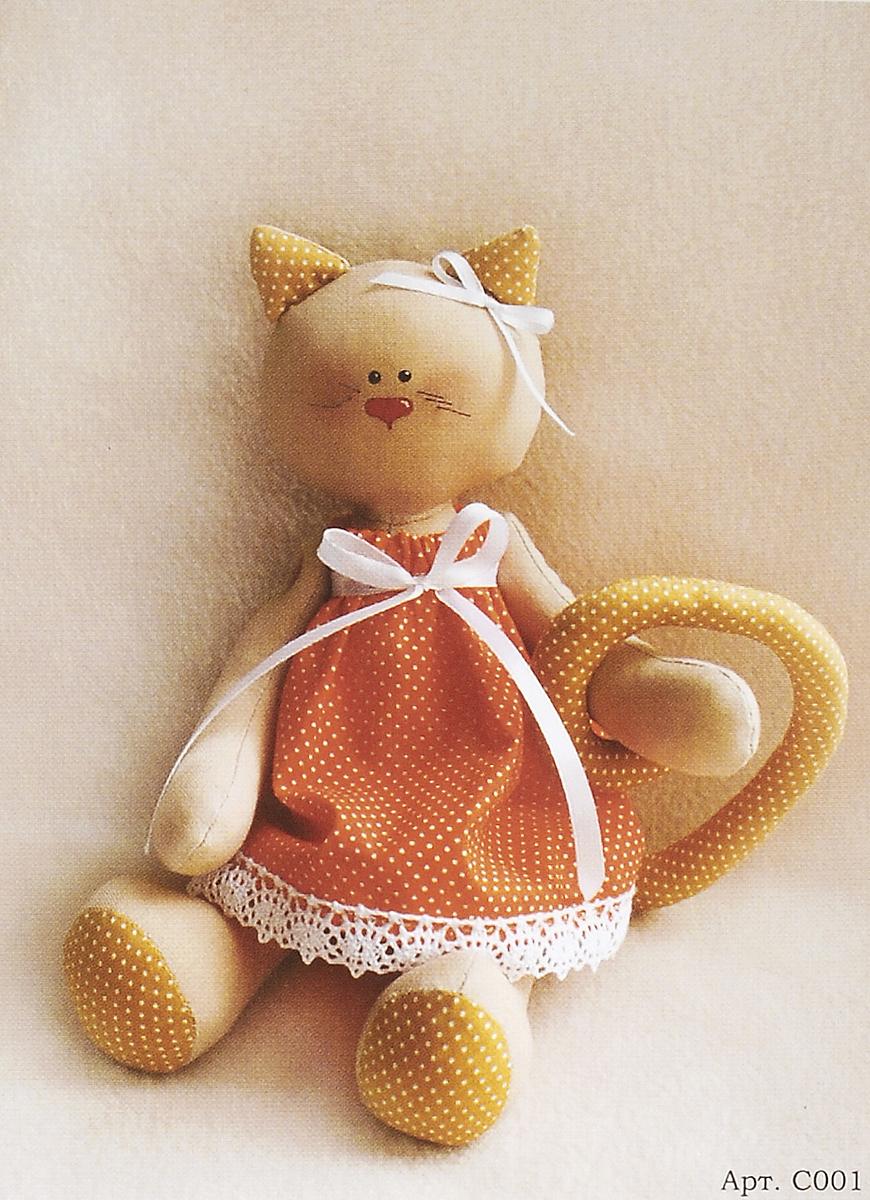 Набор для изготовления игрушки Ваниль Cat's Story, высота 27 см. C001 набор для изготовления вальдорфской игрушки мальчик на жирафе 30 см