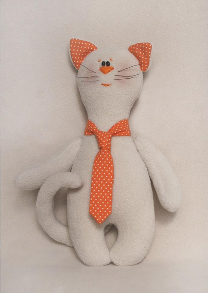 Набор для изготовления игрушки Ваниль Cat's Story. Котик в галстуке, высота 21 см набор для изготовления вальдорфской игрушки мальчик на жирафе 30 см