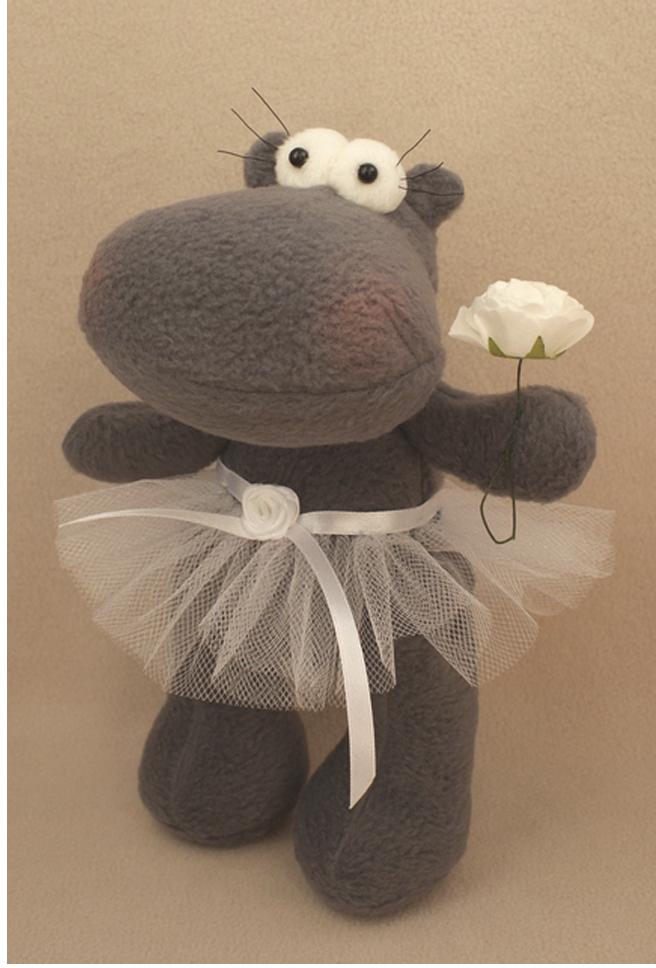 Набор для изготовления игрушки Ваниль Hippo Story. Бегемотик, 23 см. HP001