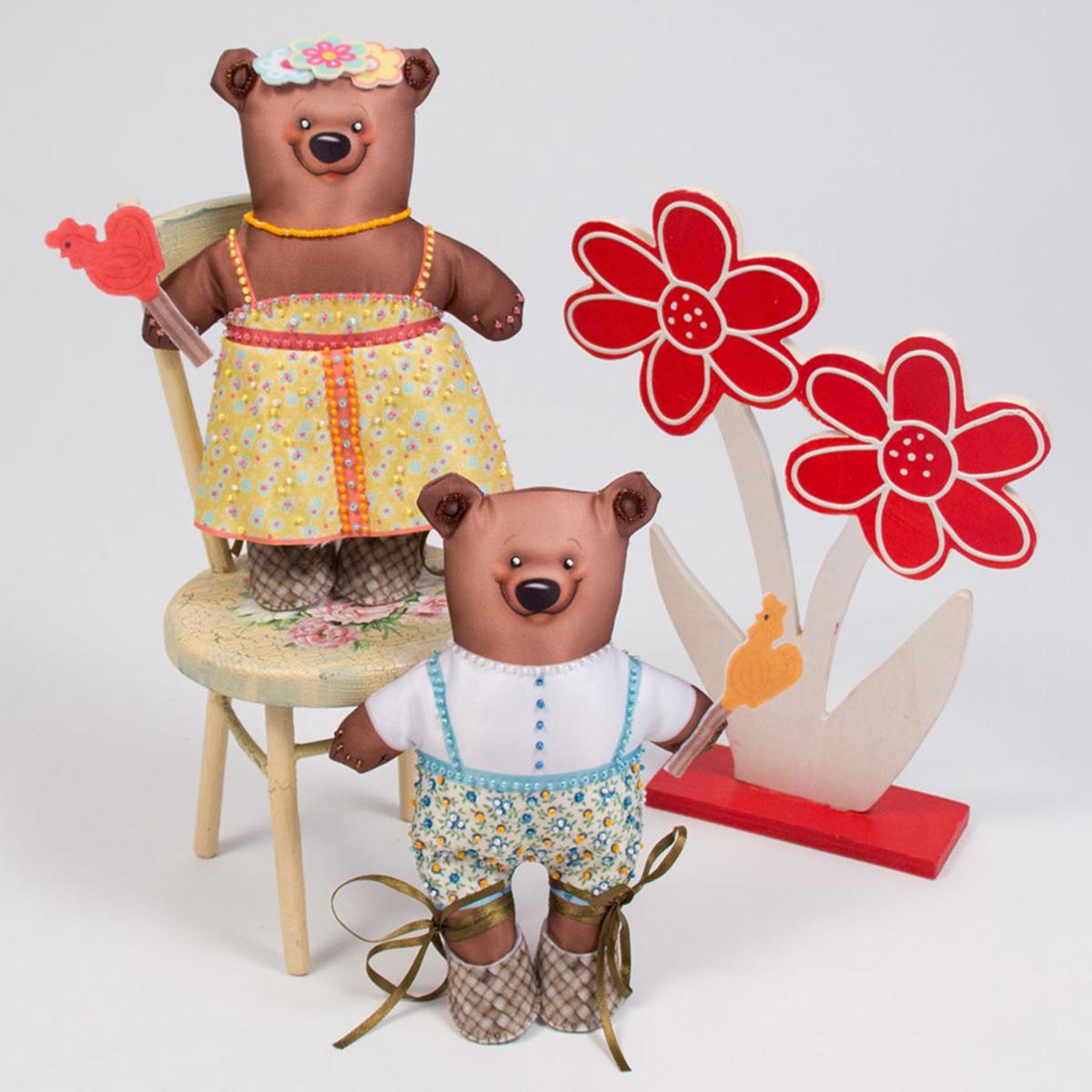 Набор для изготовления игрушек Матренин Посад Мишутка и Машутка наборы для вышивания матренин посад рисунок на канве у прохладного фонтана