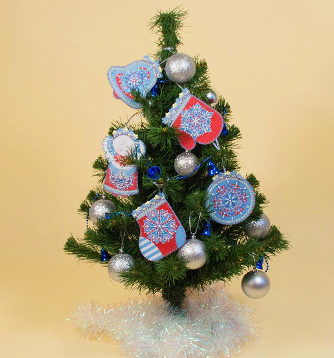 """Набор для шитья и вышивания Матренин Посад """"Новогодние игрушки"""", 13 х 10 см"""