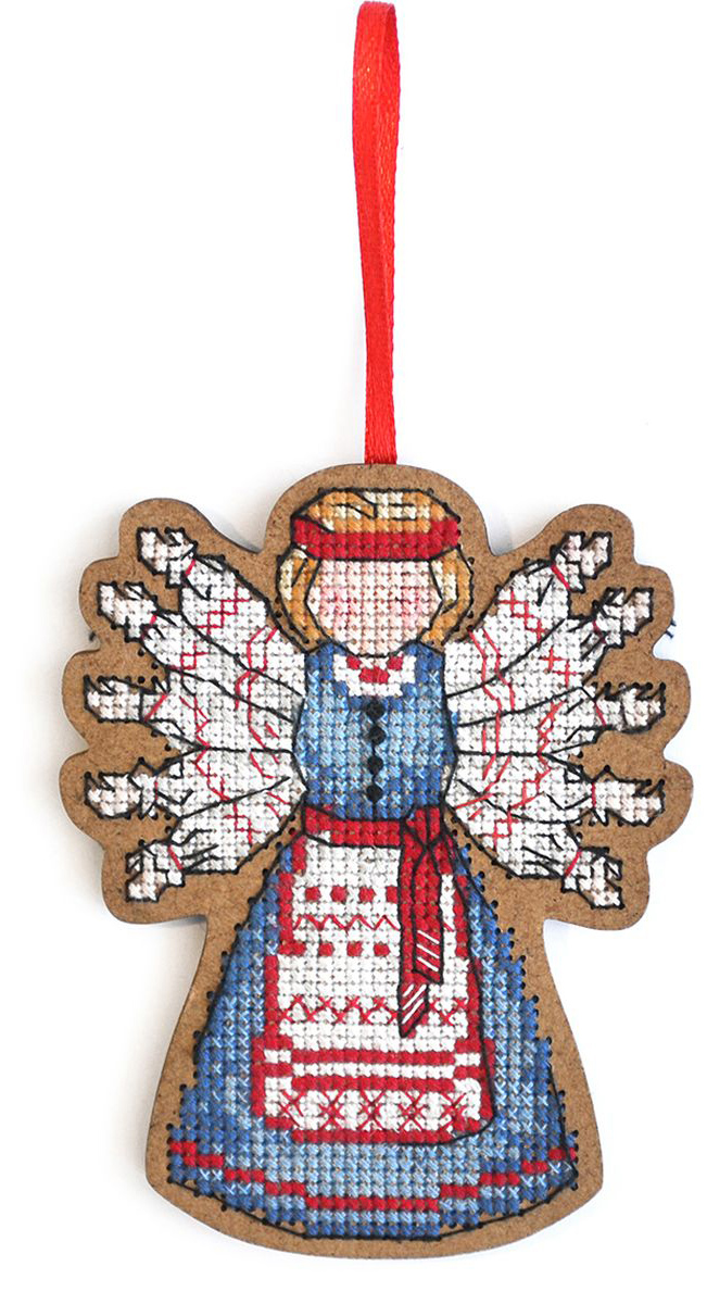 Набор для вышивания крестом Созвездие Помощница. Десятиручка, 9,5 х 7,5 см набор для вышивания крестом rto чайник с брелоком 3 х 3 см