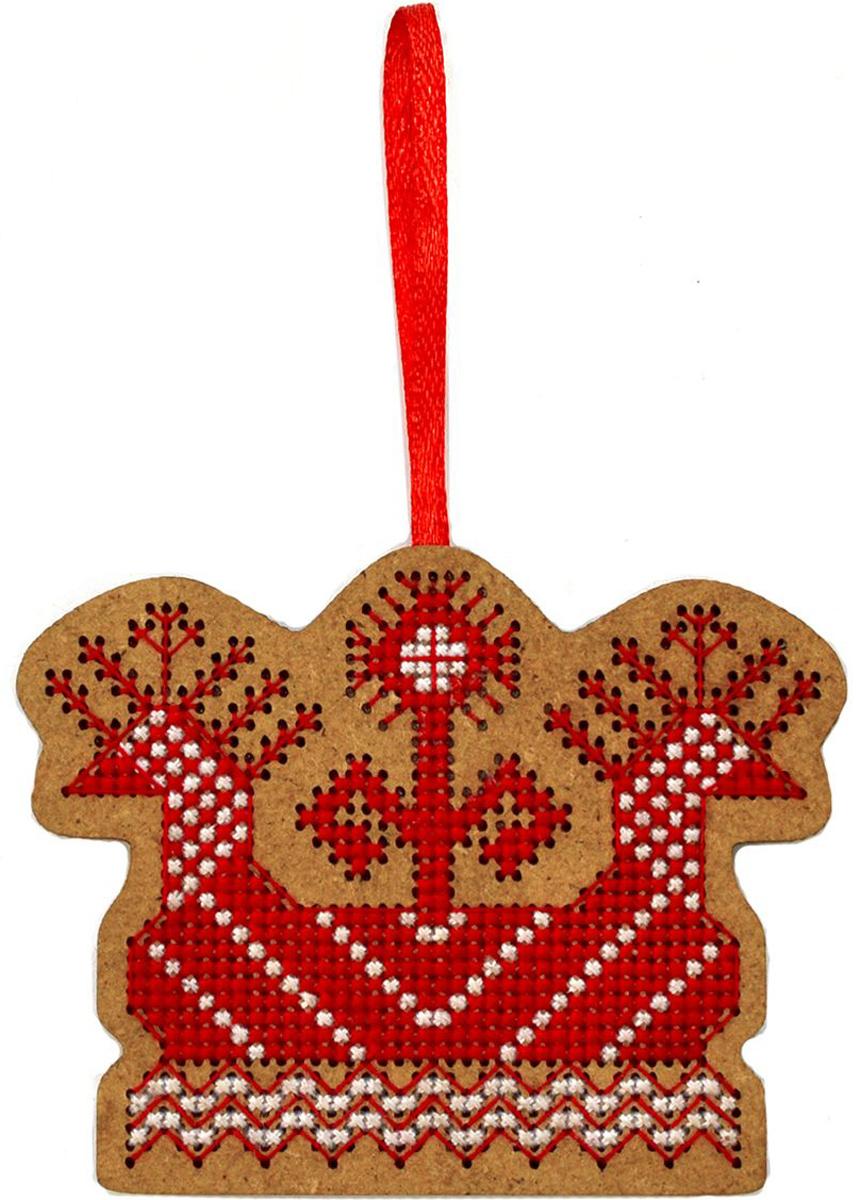 Набор для вышивания крестом Созвездие Солнечная ладья, 6 х 8 см набор для вышивания крестом luca s попугай верде 9 х 7 5 см