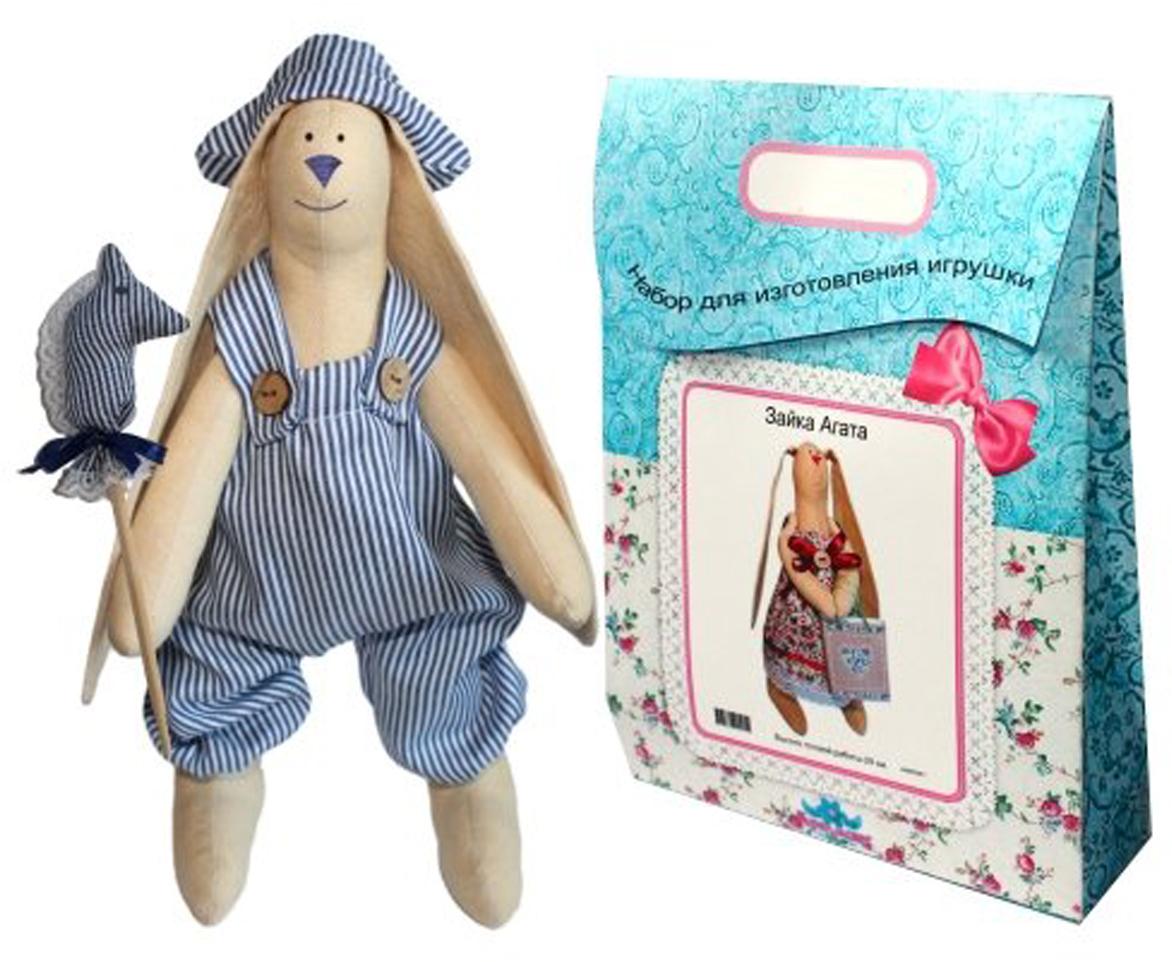 Подарочный набор для изготовления текстильной игрушки  Зайка Илюша , 29 см - Игрушки своими руками