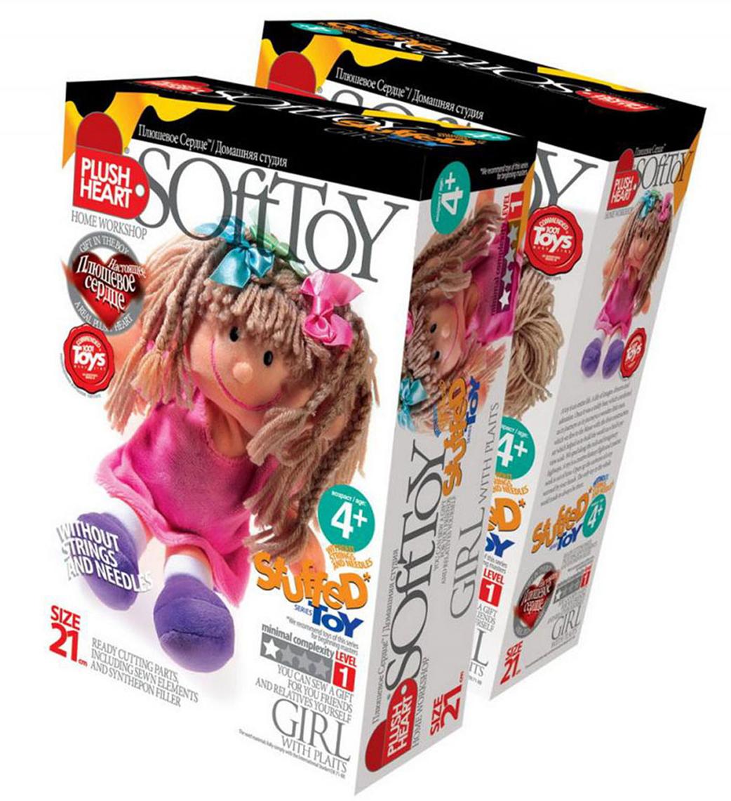 Набор для создания мягкой игрушки Девочка с косичками фантазер josephine набор плетение из фольги серебрянная роза