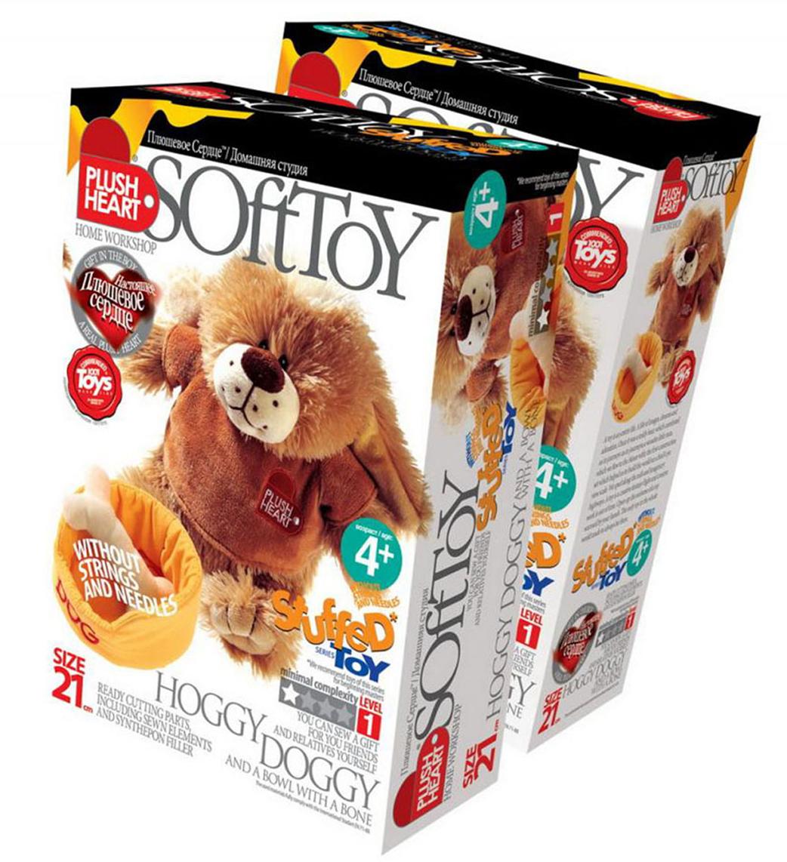 Набор для создания мягкой игрушки  Песик Хогги и мисочка с косточкой  - Игрушки своими руками