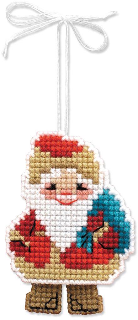 Набор для изготовления подвесного украшения Riolis Новогодняя игрушка. Дедушка мороз, 6,5 см х 8 см набор для вышивания с бисером riolis богоматерь казанская