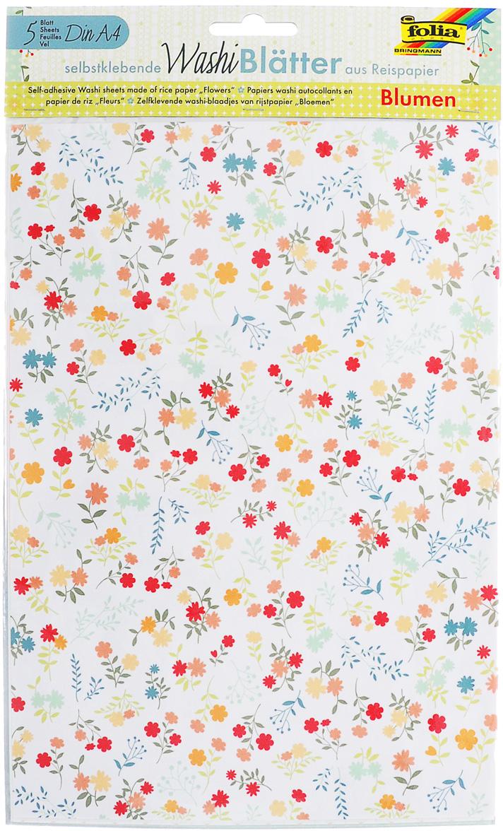 Рисовая бумага Folia Цветы, самоклеящаяся, 29,5 x 21 см, 5 листов7707994Рисовая бумага Folia Цветы - бумага с матовой поверхностью, котораяиспользуется для изготовления открыток, для скрапбукинга и другихдекоративных или дизайнерских работ. Бумага декорирована изображениямиразных цветов. Она имеет самоклеящуюся пленку, позволяющую удаление иповторное приклеивание, что обеспечивает большие творческие возможности.Изделие имеет отличное сцепление с бумагой, обоями, тканью и гладкимиповерхностями, такими как металл, стекло и т.д. без специальной подготовки.
