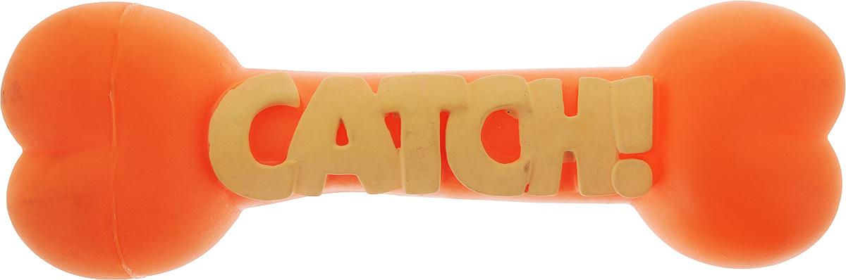 Игрушка для собак Camon Косточки Jump, цвет: оранжевый, длина 23 см игрушка для собак zoobaloo собачка с поводком цвет ментоловый длина косточки 15 см