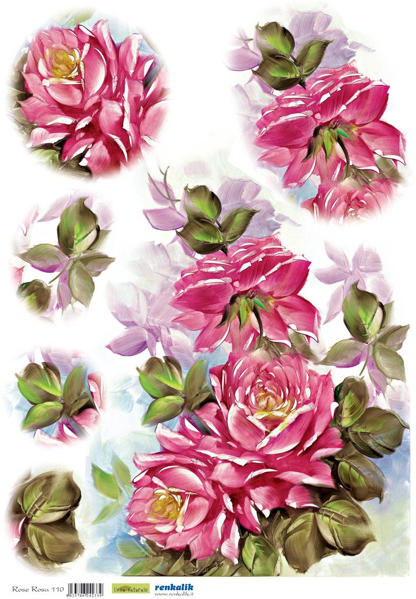 Рисовая бумага для декупажа Renkalik Розовые розы, 35 х 50 см7716Бумага для декупажа Renkalik предназначена для декорирования предметов. Имеет в составе прожилки риса, которые очень красиво смотрятся на декорируемом изделии, придают ему неповторимую фактуру и создают эффект нанесенного кистью рисунка. Подходит для декора в технике декупаж на стекле, дереве, пластике, металле и любых других поверхностях. Плотность бумаги: 25 г/м2.