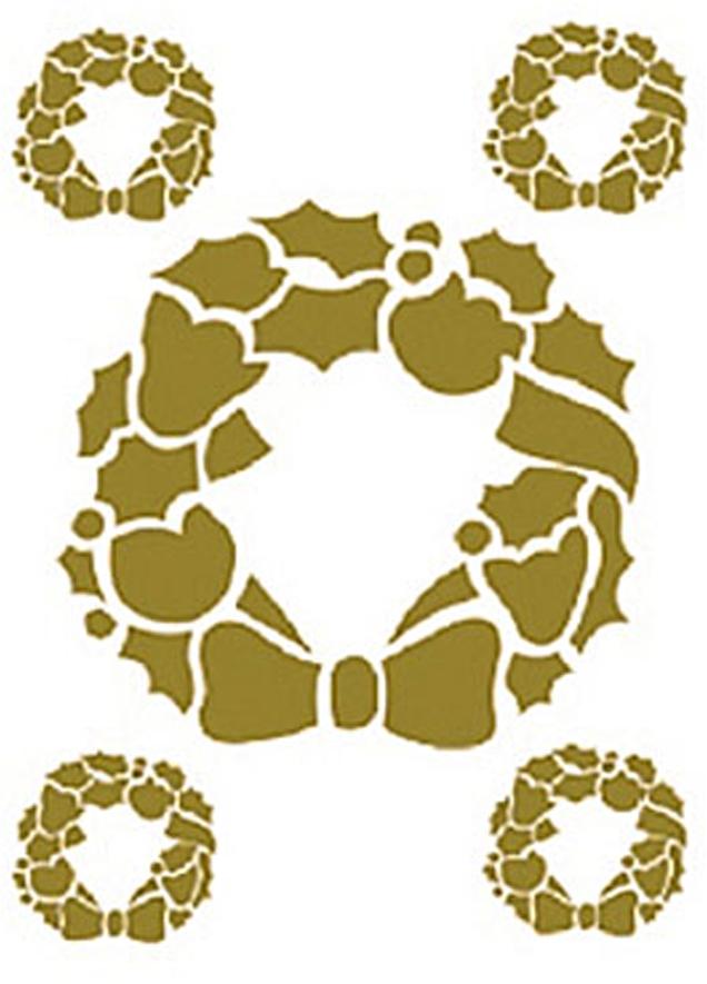 Zakazat.ru Трансфер универсальный Золотой венок, цвет: золотой, 17 см х 25 см. CD-325