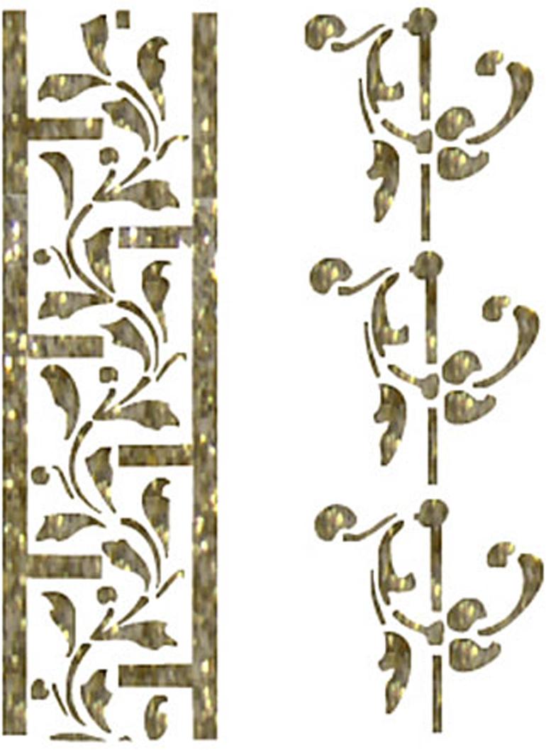 Zakazat.ru Трансфер универсальный Бордюрные орнаменты, 17 х 25 см SM-020