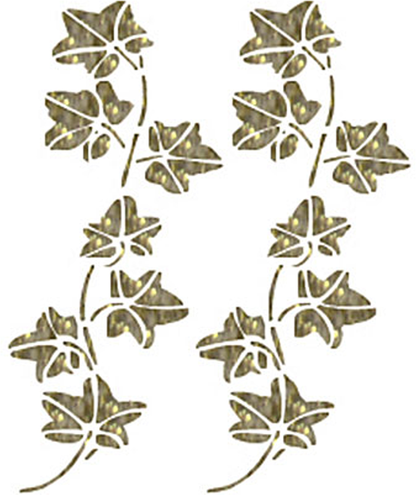 Zakazat.ru Трансфер с глиттером по ткани Листочки винограда, 17 см х 25 см. SKT-1132