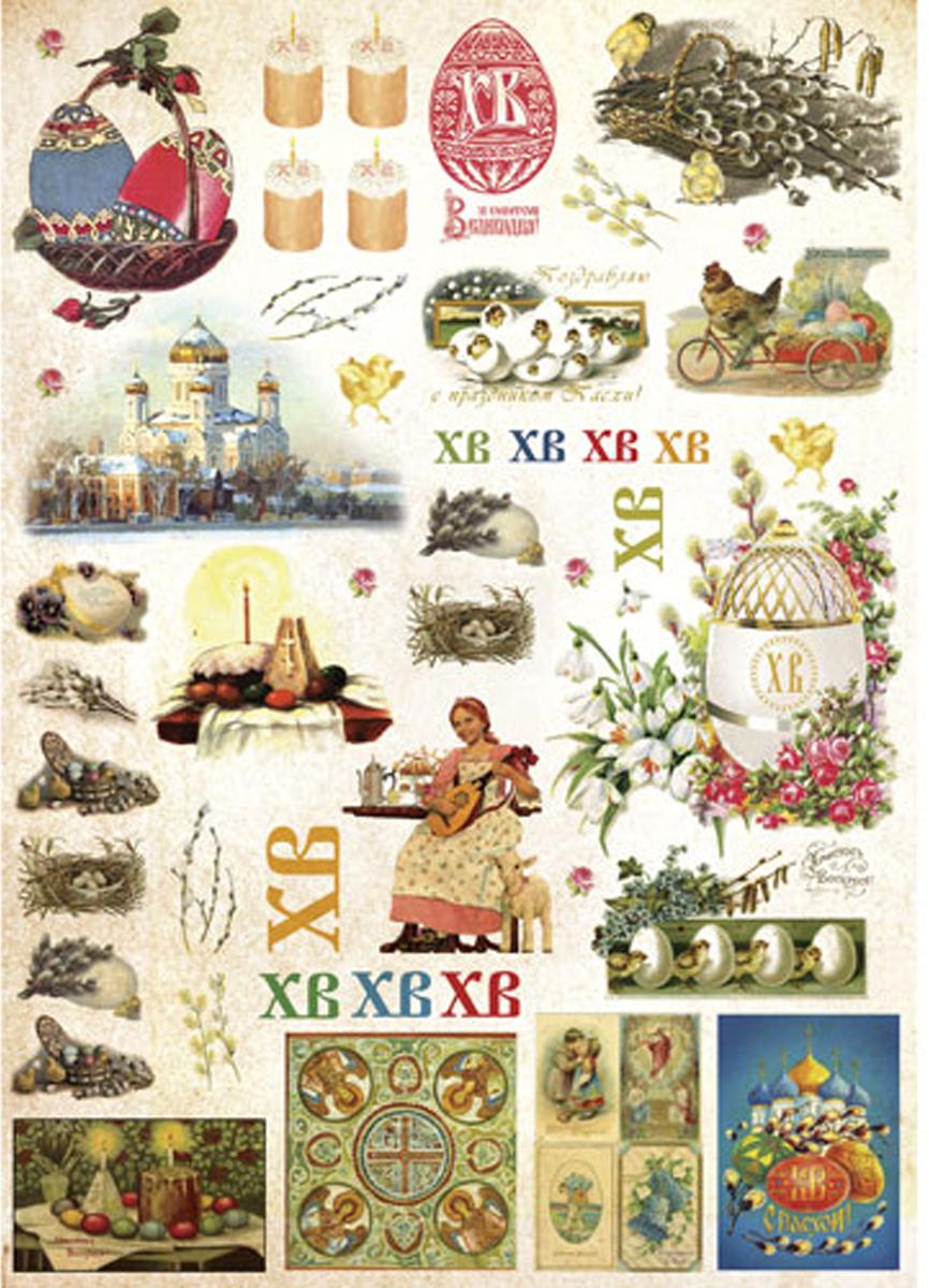 Рисовая бумага для декупажа Craft Premier, 28,2х38,4см, 25г/м, Пасха - русская1CP00443Плотность бумаги 25 г/м бумага, ПВХ
