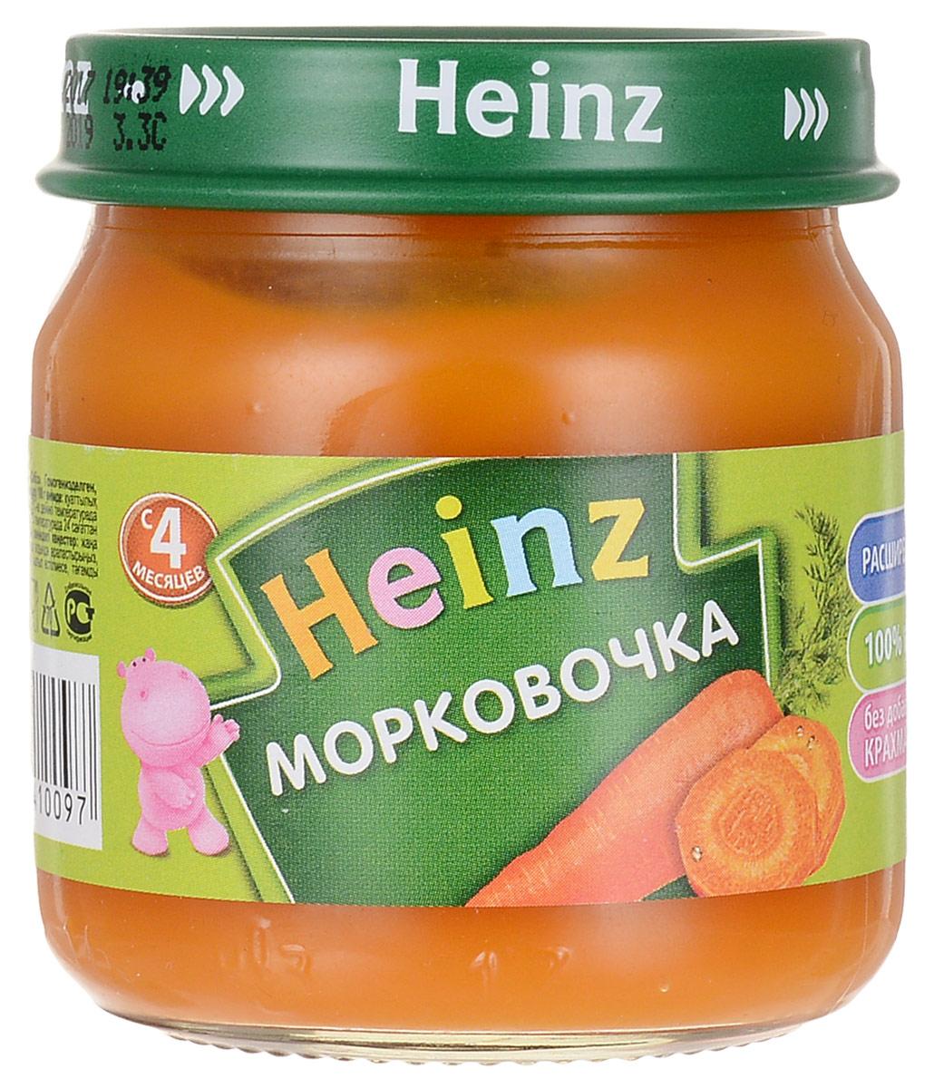 Heinzпюре морковочка, с 4 месяцев, 80 г