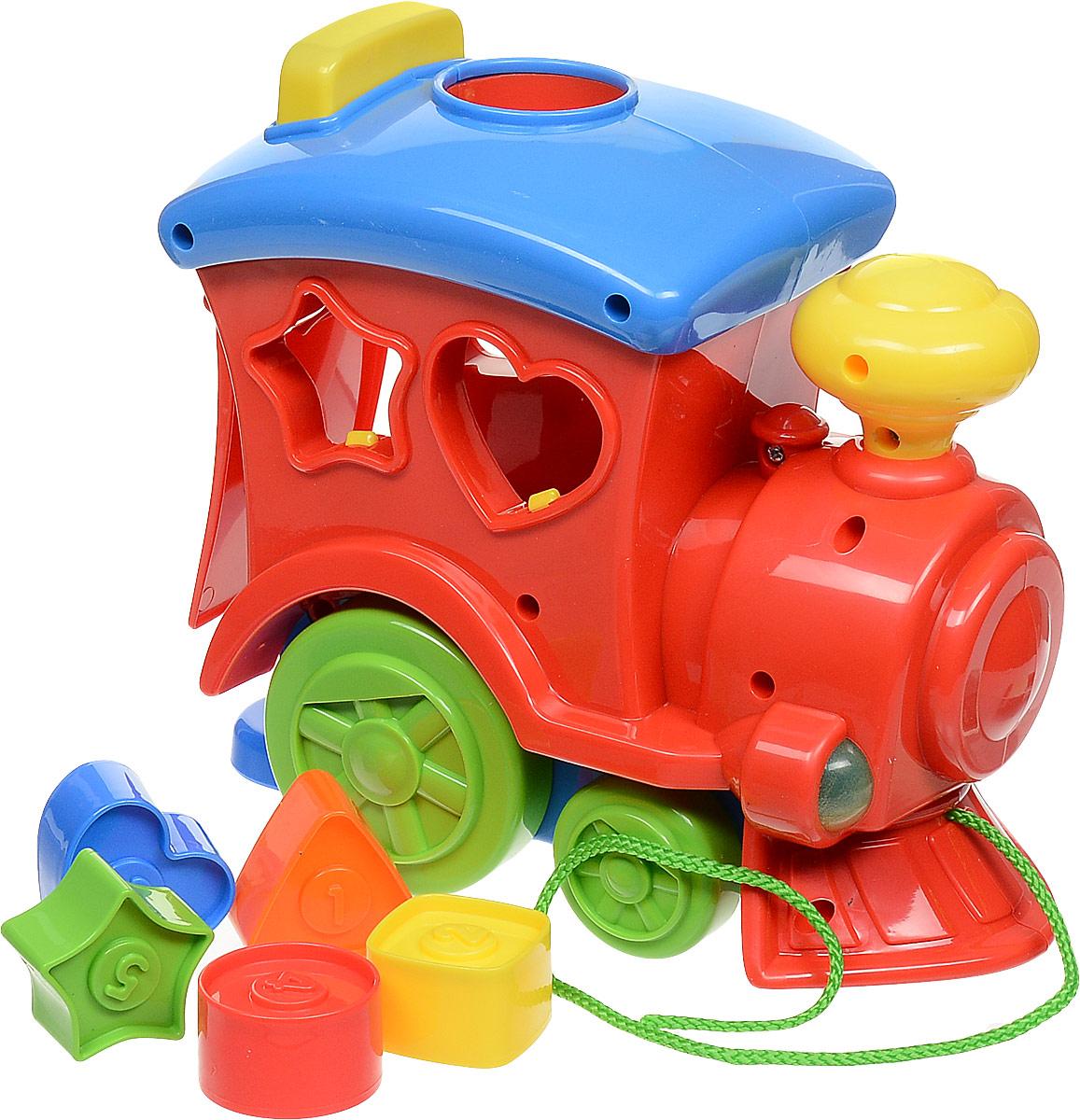 Keenway Каталка-сортер Поезд с кубиками цвет красный паровозик веселый keenway с паззлами