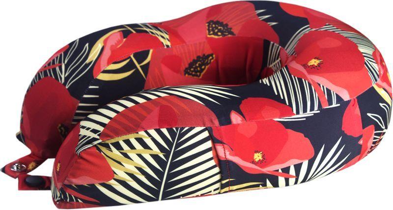 Подушка для путешествий Mettle  Flowers , цвет: красный - Подушки, пледы, коврики