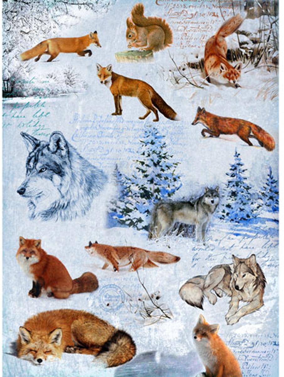 Zakazat.ru: Рисовая бумага для декупажа Craft Premier Волки, лисы, 28,2 х 38,4 см