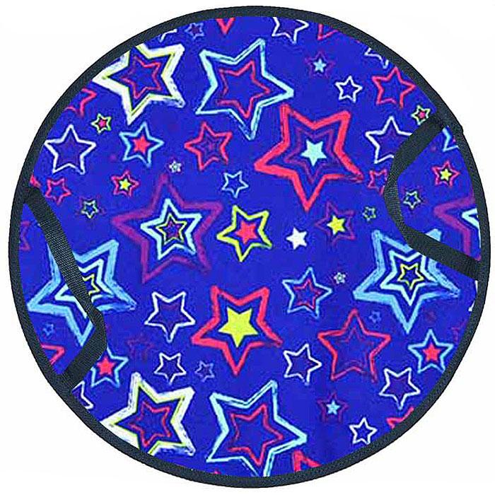 Ледянка FormulaZima Снежинка детская. Звезды, диаметр 35 см55008-2Детская ледянка выполнена из прочных современных материалов. Верх - Оксфорд с ярким рисунком, низ - прочный и хорошо скользящий ПВХ. Внутри ледянки - мягкий теплоизолирующий материал, который одновременно и защищает от холода, и амортизирует, сглаживает ухабы на склоне.