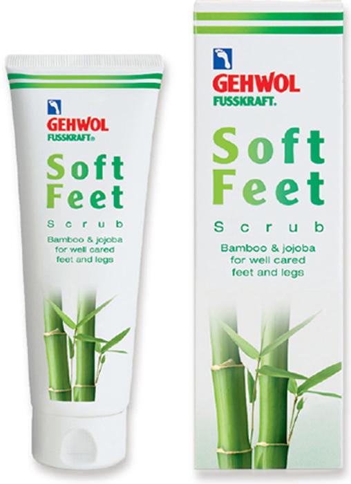 Gehwol Soft Feet Peeling - Пилинг Бамбук и жожоба для ног 125 мл1*11207Геволь Пилинг «Бамбук и жожоба» мягко и эффективно отшелушивает ороговевшие клетки кожи, придает коже гладкость и улучшает ее регенерацию. Натуральные гранулы бамбука и воск жожоба обеспечивают легкий и нежный пилинг, стимулируют кровообращение. Мелкие кристаллы сахара способствуют быстрому отшелушеванию ороговевших клеток кожи, мягко и бережно массируют кожу ног и стоп. Масло авокадо и экстракт меда обогащают кожу ценными питательными веществами, витамин Е защищает ее и предотвращает преждевременное старение. Пилинг улучшает кровообращение кожи и подготавливает её для дальнейшего ухода, обеспечивая лучшее впитывание ценных питательных веществ в кожу, например, с использованием Шелкового крема «Молоко и мед с гиалуроновой кислотой» марки GEHWOL.Как ухаживать за ногтями: советы эксперта. Статья OZON Гид
