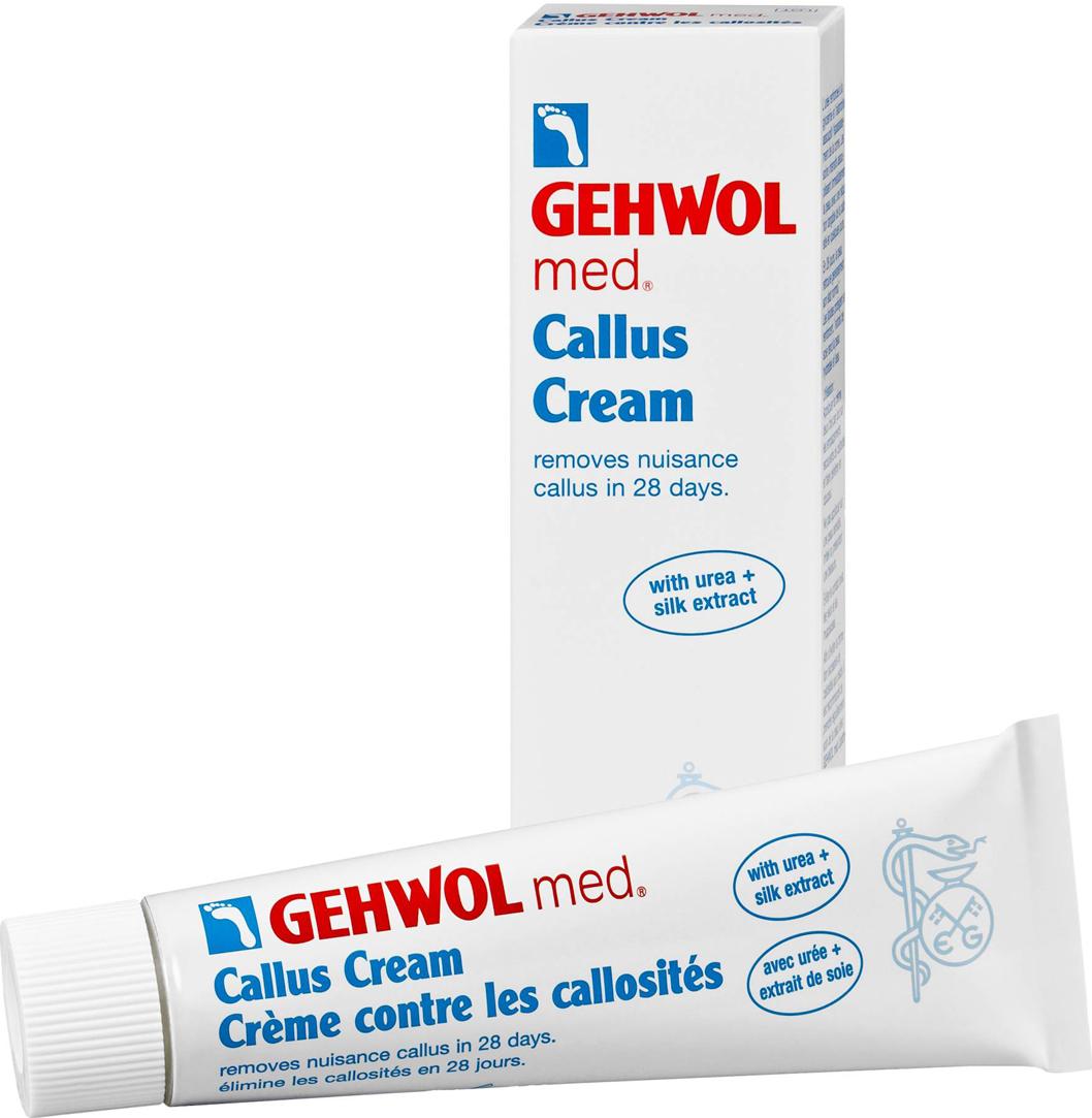 Gehwol Med Callus Cream - Крем для загрубевшей кожи, 75 мл1*41205Крем для загрубевшей кожи Геволь мед (Gehwol med Callus Cream) решает проблему гиперкератоза за 4 недели. Деликатно смягчает и удаляет загрубевшую кожу, благодаря уникальной рецептуре ослабляет межклеточные соединения плотных слоев кожи.В результате достигается быстрое смягчение загрубевшей кожи и ощутимые результаты уже после нескольких дней применения. Экстракт шелка увлажняет и разглаживает кожу.Регулярный уход за кожей ног в сочетании с Кремом Геволь Мед Гидро-баланс надежно защищает от повторного образования участков загрубевшей кожи.Уважаемые клиенты! Обращаем ваше внимание на возможные изменения в дизайне упаковки. Качественные характеристики товара остаются неизменными. Поставка осуществляется в зависимости от наличия на складе.Как ухаживать за ногтями: советы эксперта. Статья OZON Гид