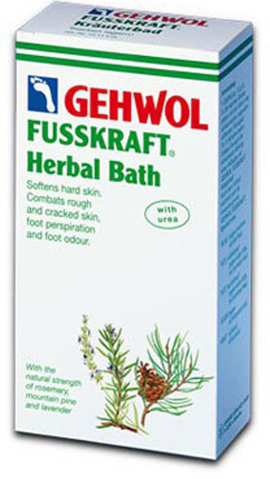 Gehwol Fusskraft Herbal Bath - Травяная ванна для ног 400 гр1*11516Средство Травяная ванна Геволь (Fusskraft Herbal Bath Gehwol) с натуральными ингредиентами из трав и масла горной сосны. Ее основное воздействие направлено на нормализацию процесса потоотделения и продолжительное действие против запаха пота. Ванна также обладает сильными смягчающими свойствами и предназначена для размягчения чрезмерно жёсткой кожи ступней, мозолей, натоптышей, загрубевшей и растрескавшейся кожи ног. Назначение: Эффективно размягчает загрубевшую кожу, натоптыши и мозоли. Обладает дезодорирующим действием и нормализует потоотделение.Как ухаживать за ногтями: советы эксперта. Статья OZON Гид