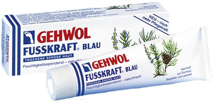 Gehwol Fusskraft Blau - Голубой бальзам для ног 125 мл182Средство Голубой бальзам Геволь Фусскрафт (Gehwol Fusskraft Blau) содержит натуральные и смягчающие компоненты, такие как, ланолин в сочетании с алое-вера и мочевиной, которые обеспечивают необходимый уход за сухой, грубой и потрескавшейся кожей ног. Нормализует потоотделение и избавляет от неприятного запаха пота.Натуральные эфирные масла из розмарина, горной сосны и лаванды, входящие в Голубой бальзам Геволь Фусскрафт, а также оживляющая камфара и охлаждающий ментол сразу же снимают ощущение жжения, тяжесть и боли в ногах.Назначение:Натуральные эфирные масла, оживляющая камфара и охлаждающий ментол сразу же облегчают ощущения жжения и снимают боли в ногах.Ноги укрепляются.Нормализует потоотделение.Разложение уже выделенного пота прекращается.Такие натуральные и смягчающие жиры, как, например, ланолин, дают необходимый уход сухой, потрескавшейся коже и делают ее снова эластичной, упругой и гладкой.Активные компоненты: розмариновое масло, сосновое масло, лавандовое масло, камфара, ментол, ланолин, климбазол.Проверено по дерматологическим показателям. Благоприятно применение при заболевании диабетом.Уважаемые клиенты! Обращаем ваше внимание на то, что упаковка может иметь несколько видов дизайна. Поставка осуществляется в зависимости от наличия на складе.Как ухаживать за ногтями: советы эксперта. Статья OZON Гид