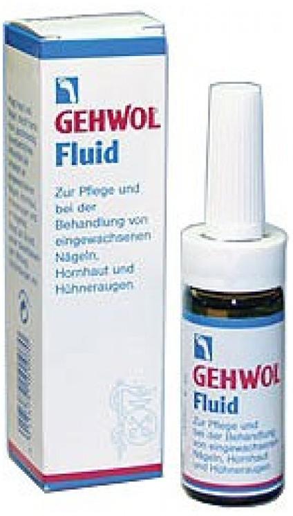 Gehwol Fluid - Жидкость Флюид для ног 15 мл1*10901Жидкость Флюид (Gehwol Fluid ) содержит ингредиенты из тимьяна, ромашки и гвоздики, которые смягчают и дезинфицируют кожу. Жидкость «Флюид» возвращает ногтям и коже вокруг них ухоженный вид и эластичность. Назначение: средство для ухода за жесткой, загрубевшей кожей вокруг ногтей, обработки и лечения вросших ногтей, мозолей.Как ухаживать за ногтями: советы эксперта. Статья OZON Гид