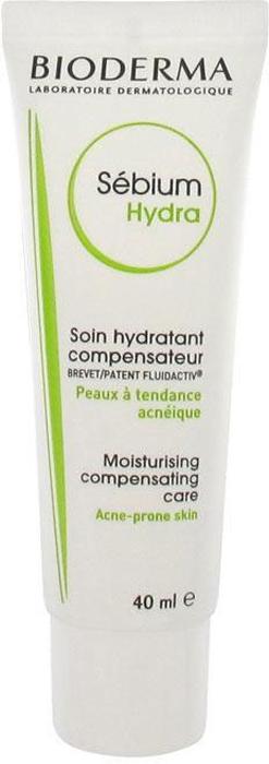 Bioderma Sebium Hydra крем для лица, 40 мл028612IКомпенсирующий, увлажняющий, смягчающий крем для жирной проблемной кожи подростков и взрослых увлажняет, защищает, смягчает кожу. Релипидирует, успокаивает и повышает переносимость.