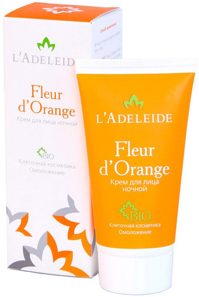 LAdeleide Крем ночной для лица Fleur dOrange, 50 мл1002Клеточный комплекс для лица Fleur d'Orange – это косметика последнего поколения, разработанная против первых признаков старения. Разглаживает морщины, моделирует овал лица, увлажняет и укрепляет кожу. Активные компоненты крема на 100% натурального, растительного происхождения. В основе эффективности крема – клеточный комплекс MATRIXYL Synthe 6, гиалуроновая кислота и натуральные экстракты (апельсин, лимон, мандарин, яблоко, земляника и сахарный тростник).Активные компоненты:Matrixyl Synthe 6 - клеточный комплекс, заполняющий морщины изнутри, способствует устранению мимических морщин, стимулируя восстановление дермы.Гиалуроновая кислота 100% натурального происхождения Cristalhyal - увлажняющий компонент, предупреждает преждевременное старение.Xyliance обладает увлажняющими и восстанавливающими свойствами.Масло виноградной косточки оказывает питательное и омолаживающее действие.Cetiol Sensoft придает коже бархатистость.Д-Пантенол обладает регенерирующим, увлажняющим и разглаживающим действием.Аллантоин увлажняет, успокаивает, стимулирует образование здоровых тканей.