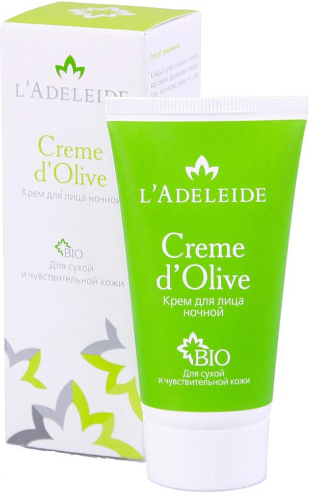 LAdeleide Крем ночной для лица Creme dOlive, 50 млКС-426Создан на основе натуральных увлажняющих компонентов. Помогает восстановить кожу лица после тяжелого дня. Разглаживает мимические морщины после стресса, восстанавливает кожу после сложных климатических условий. Обладает антиоксидантными свойствами.Активные компоненты:Гиалуроновая кислота 100% натурального происхождения Cristalhyal - увлажняющий компонент, противодействует преждевременному старению.Масло оливы оказывает успокаивающее, питательное и омолаживающее действие.Xyliance - эмульгатор на основе пшеничных отрубей. Обладает увлажняющими и восстанавливающими свойствами, разработан для чувствительной кожи.Cetiol (R) Sensoft придает коже бархатистость.Д-пантенол обладает регенерирующим, увлажняющим и успокаивающим действием.Аллантоин увлажняет, успокаивает, стимулирует образование здоровых тканей.