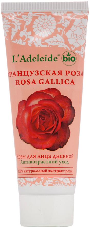 LAdeleide Крем для лица дневной Французская роза Антивозрастной, 75 млКС-097Французская роза – это линия компании L'Adeleide на основе натурального экстракта французской розы, волшебным эффектом которого пользуются многие столетия жительницы Cредиземноморья. Французская роза известна своим регенерирующим и омолаживающим эффектом. Благодаря последним технологиям, L'Adeleide смог передать сильный эффект экстракта.Косметический крем для лица Французская роза легко впитывается, устраняет все признаки уставшей кожи: успокаивает, увлажняет и питает. Сбалансированная формула крема содержит дистиллят розы и важнейшие витамины F и E. Крем способствует поддержанию эластичности и упругости кожи. В составе - комплекс Hydrovance, который обеспечивает тотальное увлажнение кожи за счет своего проникновения даже в самые глубокие слои эпидермиса. Hydrovance уменьшает раздражения и воспаления сухой кожи и повышает эластичность. Применение крема стимулирует клеточную регенерацию, препятствует возникновению морщин, способствует разглаживанию мелких морщин, повышает защитные свойства кожи, выравнивает цвет, нормализует активность сальных желез.