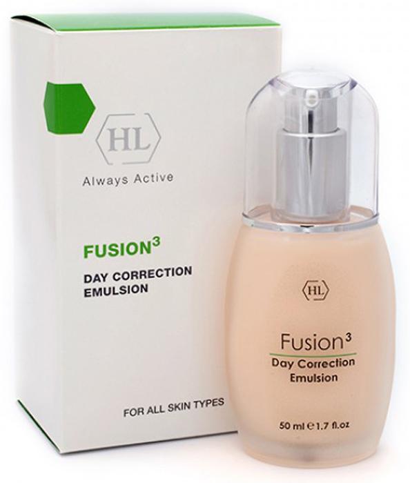 Holy Land Дневная эмульсия Fusion Day Correction Emulsion, 50 мл104549Дневной крем с очень легкой текстурой, которая позволяет использовать препарат для любого типа кожи. Активные ингредиенты стимулируют синтез коллагена и межклеточного вещества, укрепляют связи между клетками, поддерживают высокий уровень увлажненности, стабилизируют обменные процессы в коже и уменьшают глубину морщин, обладают успокаивающими и защитными свойствами. После нанесения кожа мгновенно становится гладкой и бархатистой.Активные компоненты: Экстракт зеленых водорослей, экстракт яблока, гексапептид, кальций, аминокислоты (серин, аргинин, пролин), гидролизованные растительные протеины, масло акай, масло зародышей пшеницы, облепиховое масло, ретинол. Экстракт зеленых водорослей укрепляет кожу и стенки капилляров.Масло зародышей пшеницы натуральный антиоксидант, богатый витамином Е. Замедляет старение кожи, стимулирует обменные процессы, улучшает эластичность кожи.Масло облепихи содержит уникальный комплекс витаминов, микроэлементов, аминокислот, органических кислот, липидов и других биологически активных веществ. Облепиха давно известна как противовоспалительное, ранозаживляющее, регенерирующее и витаминизирующее средство. Восстанавливает кожный покров после солнечных и радиационных ожогов, укрепляет защитные функции кожи. Смягчает сухую кожу, улучшает ее структуру. Прекрасное средство для ухода за увядающей кожей, эффективно против морщин и пигментных пятен, при угревой сыпи, дерматитах, кожных трещинах.
