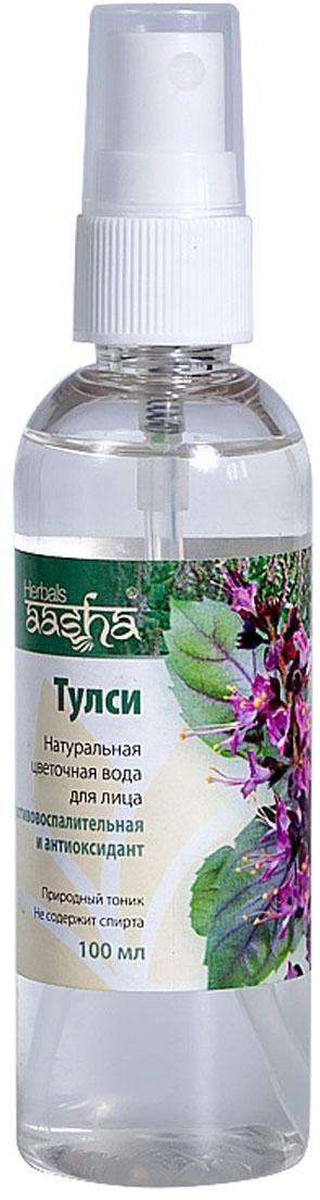 Aasha Herbals Цветочная вода для лица Тулси, 100 мл aasha herbals аюрведичесая краска для волос вишневое вино 100 г