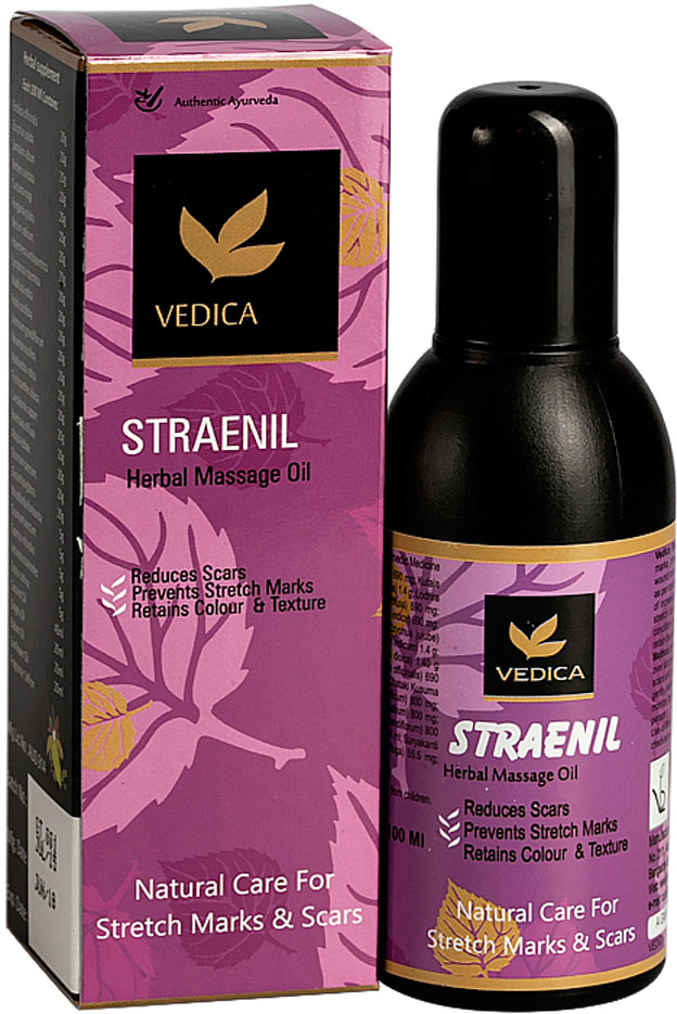 Vedica Масло от растяжек и рубцов, 100 мл8906015080230Композиция натуральных растительных масел и экстрактов, обогащенная витамином Е, способствует устранению, растяжек во время беременности и при снижении веса, устраняет рубцы, следы ран, ожогов. Повышает эластичность кожи, тонизирует и предотвращает преждевременное старение кожи