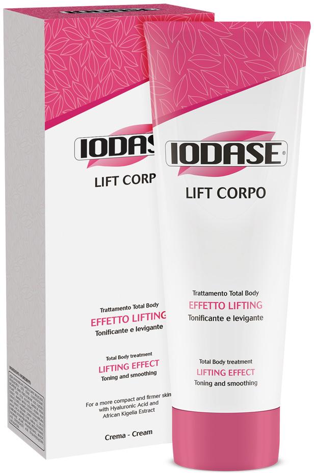Iodase Крем для тела Lift Corpo , 220 мл0770Лифтинг, тонус и укрепление кожи всего тела. Повышает тургор кожи, защищает от старения. Крем тонизирует кожу, защищает ее от старения и растяжения, от появления мелких поверхностных морщин, укрепляет и повышает эластичность. Компоненты крема работают в дерме и эпидермисе, повышая тургор, плотность кожи, одновременно защищая клетки кожи от старения. Подтягивающее действие достигается за счет использования экстракта натуральной целлюлозы и гиалуроновой кислоты, которые вместе значительно смягчают и увлажняют кожу в этой области, придают ей тонус, плотность, повышают эластичность. Моделирующее действие: экстракт кигелии африканской защищают кожу декольте и груди от старения, от появления мелких поверхностных морщин. Улучшение микроциркуляции достигается за счет введения в состав крема экстрактов Самбуки, центеллы азиатской и плюща обыкновенного.