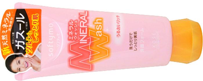 Кose Увлажняющая пенка для умывания с цветочным ароматом, Softymo Mineral Wash 130 г nouba кисть для губ и век 2 5г