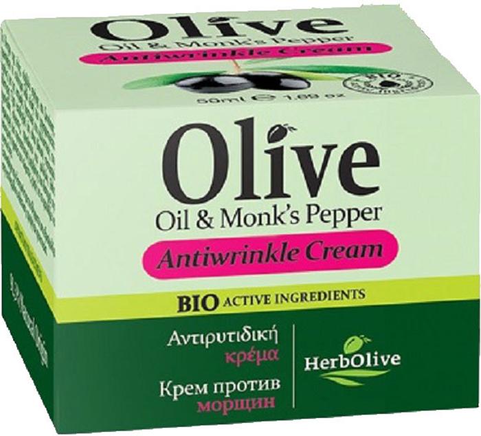 HerbOlive Крем для лица против морщин 50 мл5200310401435Рекомендуется с 35 лет. Подходит для сухой и нормальной кожи.Активные вещества:Экстракт витекса, витамины А,Е,С, масло ши и сладкого миндаля обладают мощнейшим антиоксидантным свойством, призванным бороться со старением кожи. Крем повышает эластичность, великолепное подтягивает увядающую, уставшую кожу. Укрепляет стенки капилляров, предотвращая появление купероза. Косметика произведена в Греции на основе органического сырья, НЕ СОДЕРЖИТ минеральные масла, вазелин, пропиленгликоль, парабены, генетически модифицированные продукты (ГМО)