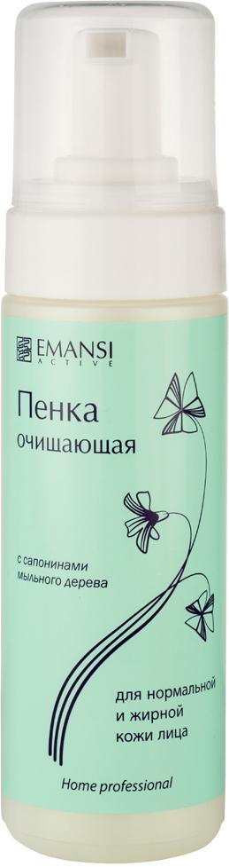 Emansi Пенка очищающая c сапонинами мыльного дерева для нормальной и жирной кожи лица Emansi active, 170 мл