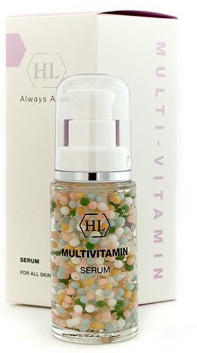 Holy Land Мультивитаминная сыворотка C The Success Multivitamin Serum 30 мл1106112503Мультивитаминная сыворотка Multivitamin Serum содержит настоящий коктейль важнейших для здоровья кожи витаминов (А, Е, F, Н, К, группы В), а также экстракты зеленого чая, мимозы, ромашки, хмеля, мелиссы, фенхеля. Multivitamin Serum подходит для всех типов кожи. Действие: Обладает ярко выраженным успокаивающим и увлажняющим эффектом при сухой, раздраженной, поврежденной, чувствительной коже.Сокращает расширенные капилляры, является эффективным средством при куперозе, поражении поверхностных капилляров, кровоизлияниях. При регулярном применении сыворотка успокаивает кожу, предупреждает сухость и образование морщин, укрепляет стенки капилляров и замедляет процесс старения. Способствует сохранению гладкой, упругой кожи. Является одним из наиболее эффективных средств для век и шеи. Сыворотка содержит 6 витаминов, заключенных в капсулы, что предупреждает их преждевременное окисление и реакцию между собой. Таким образом, витамины соединяются только в момент нанесения на кожу. Способ применения: Нанести сыворотку тонким слоем (1-2 нажатия на помпу) на все лицо, шею и веки. Через 5 мин. нанести увлажняющий, тональный или солнцезащитный крем.