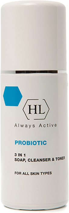 Holy Land Очиститель ProBiotic 3 In 1 Soap, Cleanser and Toner 3в1 150 мл0530026Нежная мягкая эмульсия, объединяющая в себе свойства средства для снятия макияжа, мыла и тоника. Действие:Эффективно удаляет макияж. Очищает от загрязнений. Успокаивает и тонизирует кожу. Активные компоненты: Комплекс фруктовых кислот (молочная, гликолевая, лимонная, яблочная, винная). Экстракт василька содержит флавоноиды и дубильные вещества, обладает противомикробными свойствами, оказывает спазмолитическое и противомикробное действие.Экстракт ромашки обладает противовоспалительным, антиаллергическим, успокаивающим и смягчающим действием, уменьшает раздражение и воспаление кожи. Устраняет сухость и шелушение, стимулирует процессы регенерации эпидермиса, ускоряет заживление ран. Экстракт гамамелиса содержит дубильные вещества, а также эфирные масла. Стягивает и тонизирует кожу, является хорошим увлажняющим средством.