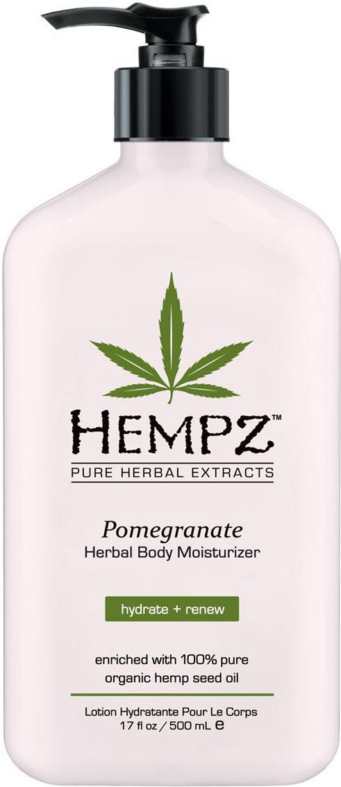 Hempz Молочко для тела увлажняющее с ганатом Pomegranate Herbal Body Moistyrizer 500 мл1106112503Увлажняющее молочко с гранатом для тела Pomegranate Herbal Body Moistyrizer Хемпц поможет сделать кожу нежной и шелковистой.Входящие в состав средства полипептиды стимулируют синтез коллагена, тонизируют кожу и делают ее более упругой, масло и экстрагированные компоненты семян конопли снабжают кожу питательными веществами и соединениями, экстракт корня женьшеня и масло ши оказывают охлаждающее, успокоительное и смягчающее воздействие, группа витаминов А, С и Е снижает влияние свободных радикалов и препятствуют образованию мелких морщин.Состав активных компонентов: конопляное и масло семян макадамии и дерева ши, экстракты семян конопли, женьшеня, календулы, ромашки, алое вера, комплекс трипептидов, группа витаминов А, С и Е.