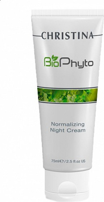 Christina Нормализующий ночной крем Bio Phyto Normalizing Night Cream 75 мл christina крем заатар bio phyto zaatar cream шаг 8a 75 мл