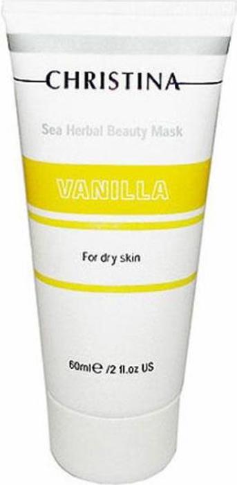 Christina Ванильная маска красоты для сухой кожи Sea Herbal Beauty Mask Vanilla 60 мл маска christina muse beauty mask объем 250 мл