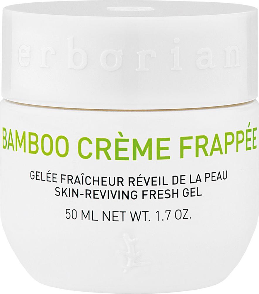 Erborian BAMBOO крем-фраппе для лица 50 млKZ 0291Как ледяной водопад, Бамбук крем-фраппе дарит коже мгновенный бодрящий эффект. Крем обладает тающей текстурой, при контакте с кожей сразу дарит ей заряд свежести и увлажнения. Мгновенновпитываясь, он пробуждает кожу, которая выглядит более свежей, мягкой и гладкой сразу после применения.